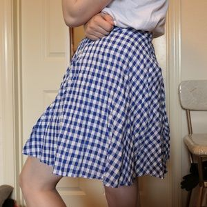 J.Crew gingham Cotton Circle Skirt